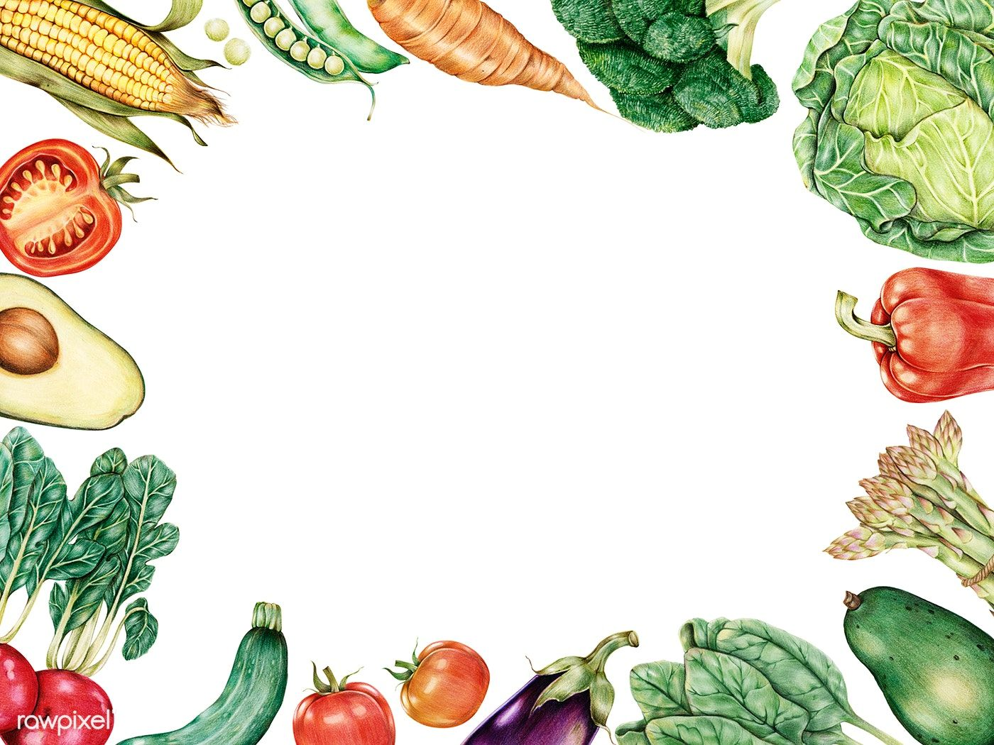 Download premium illustration of Hand drawn vegetables
