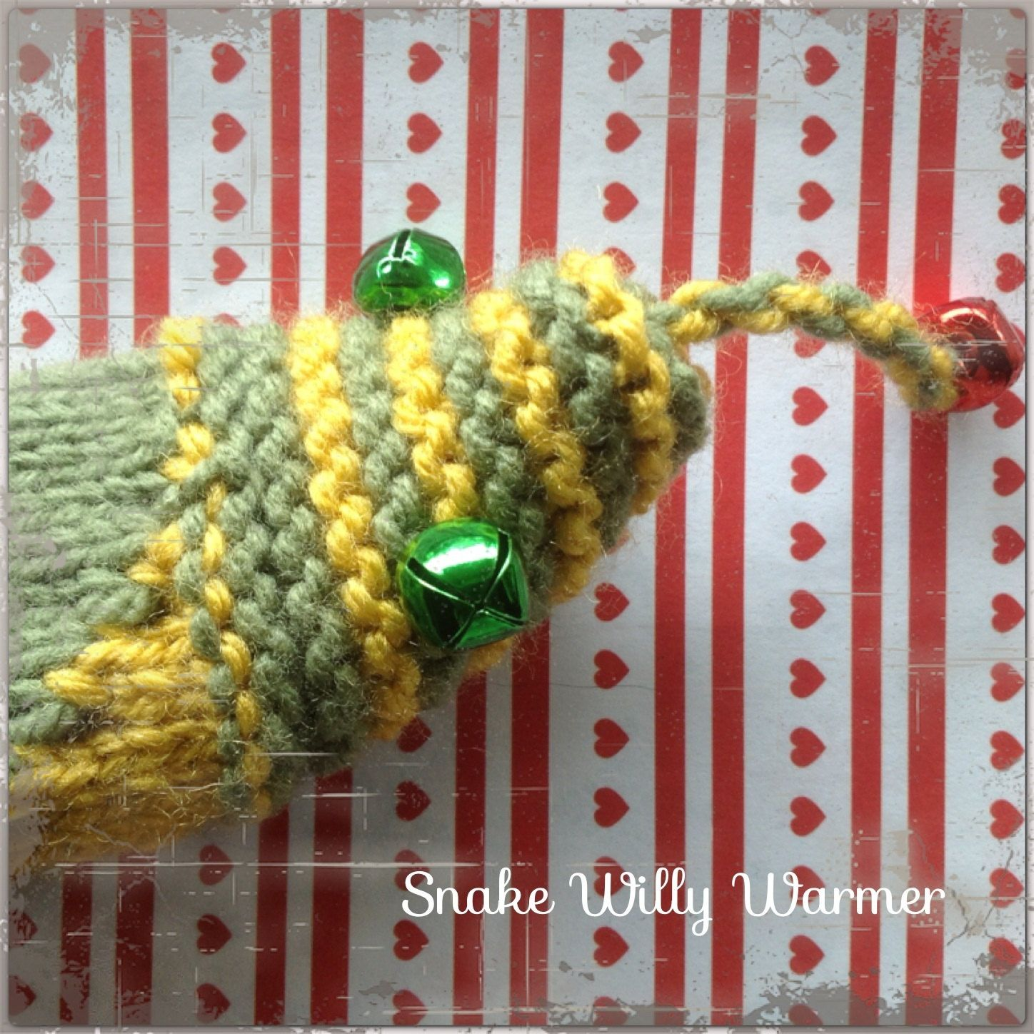 Hand Knitted Snake Willy Warmer/ Peter Heater by englishgirlincanada ...