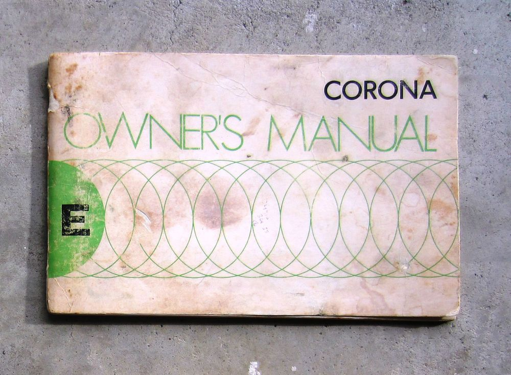 TOYOTA CORONA 1975 20 - Owners User Operation Manual Handbook - operation manual