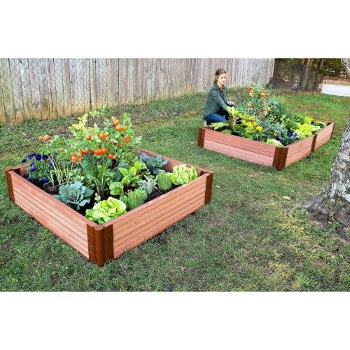 Frame It All Tool Free Composite Raised Garden Bed Kit 4l X 4w X