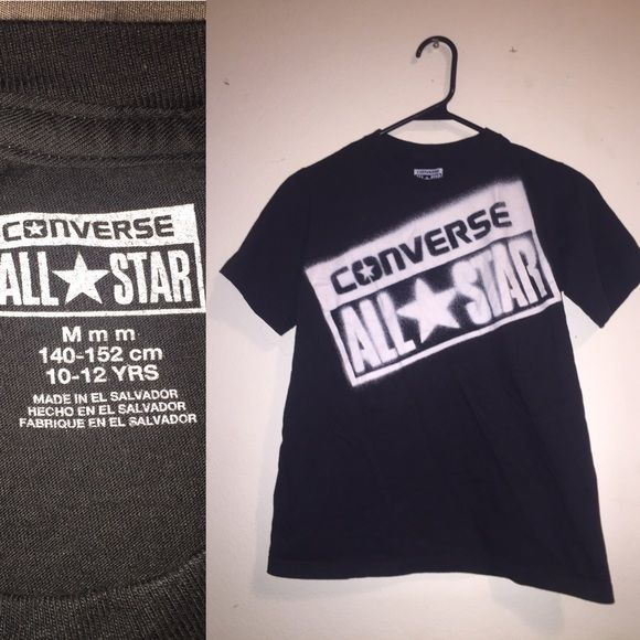 Size Kids M Converse All-Stars Tee Kids medium fits like xs. Only worn once. Converse Tops Tees - Short Sleeve