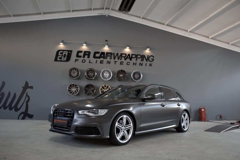 Audi A6 Avant Satin Pearl Nero Komplettfolierung Chrom In Glanz Schwarz Scheibentonung Autofolierung Tonung