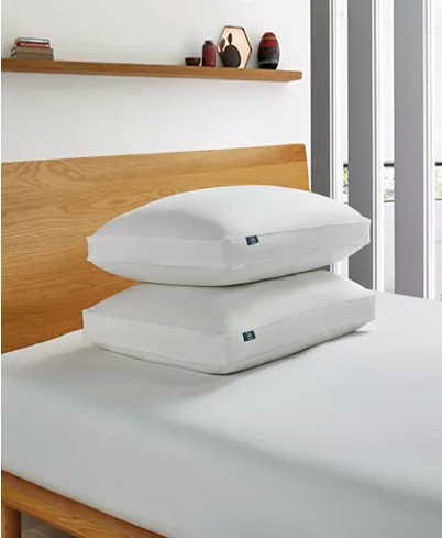 Serta White Goose Feather And Down Fiber Bed Pillow Side Sleeper 2 Pack Jumbo Reviews Pillows Bed Bath Macy S In 2020 Bed Pillows Pillow Set King Pillows