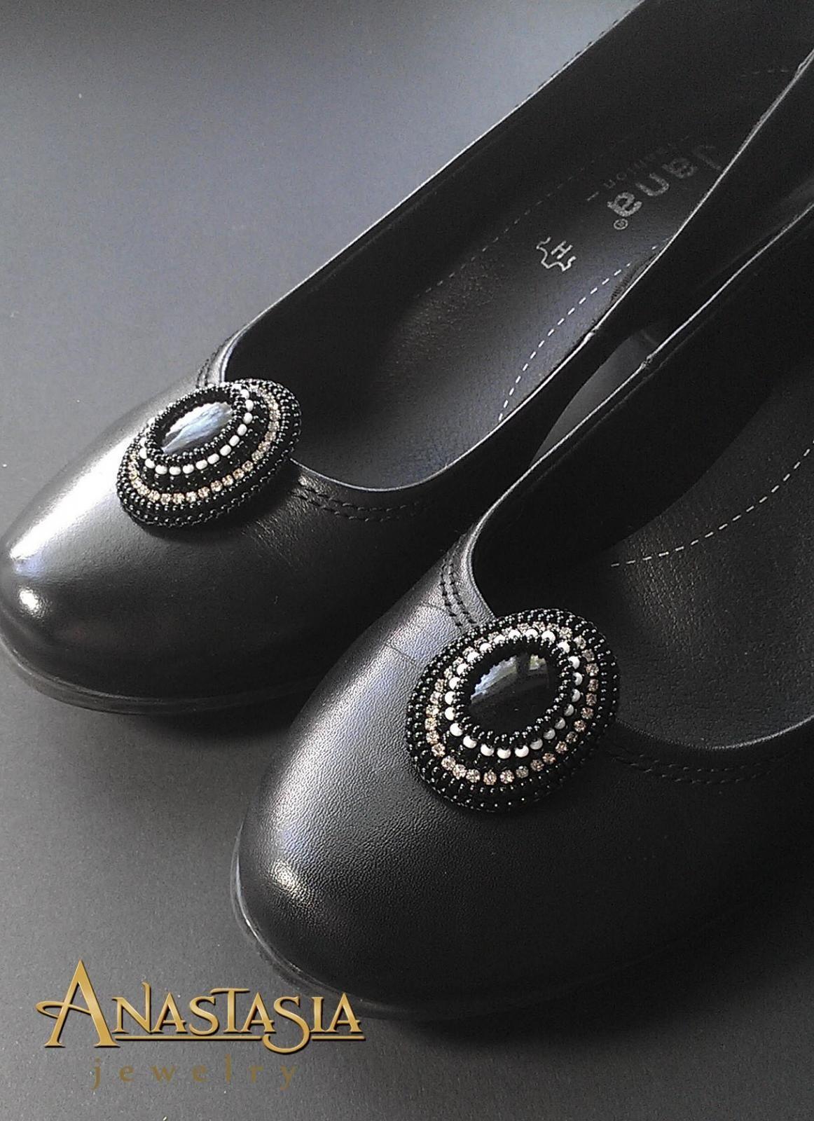 Создаем красивые клипсы для туфель в технике вышивка бисером | biser.info - всё о бисере и бисерном творчестве