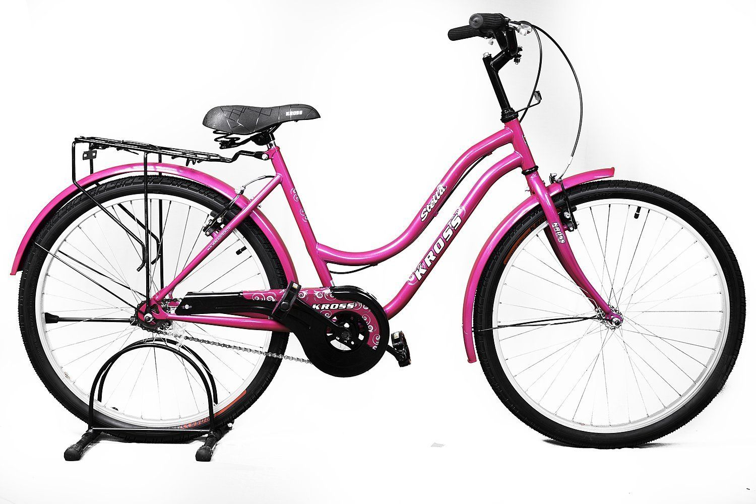 a5885da88d9 Buy Kross Stella 26 Pink Steel Unisex Hybrid Cycle Online at Low Prices in  India -