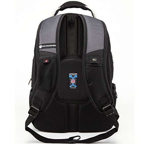Paydugh Business Backpack Laptop Backpack Travel Backpack School Backpacks Sports 17 or 19inch (Grey 19inch Upgrade Upgrade)-- #ChristmasGiftIdeas