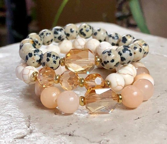 Gemstone Jewelry, Unique Gifts for Her, Inexpensive Gifts for Her, Handmade Jewelry, Handmade Bracelets, Chunky Bracelets, Christmas Gifts #gemstonejewelry