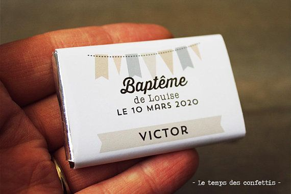 Mini tablette de chocolat personnalisée bapteme mariage pour avec le noms de vos invités placement de table convives plan de table original