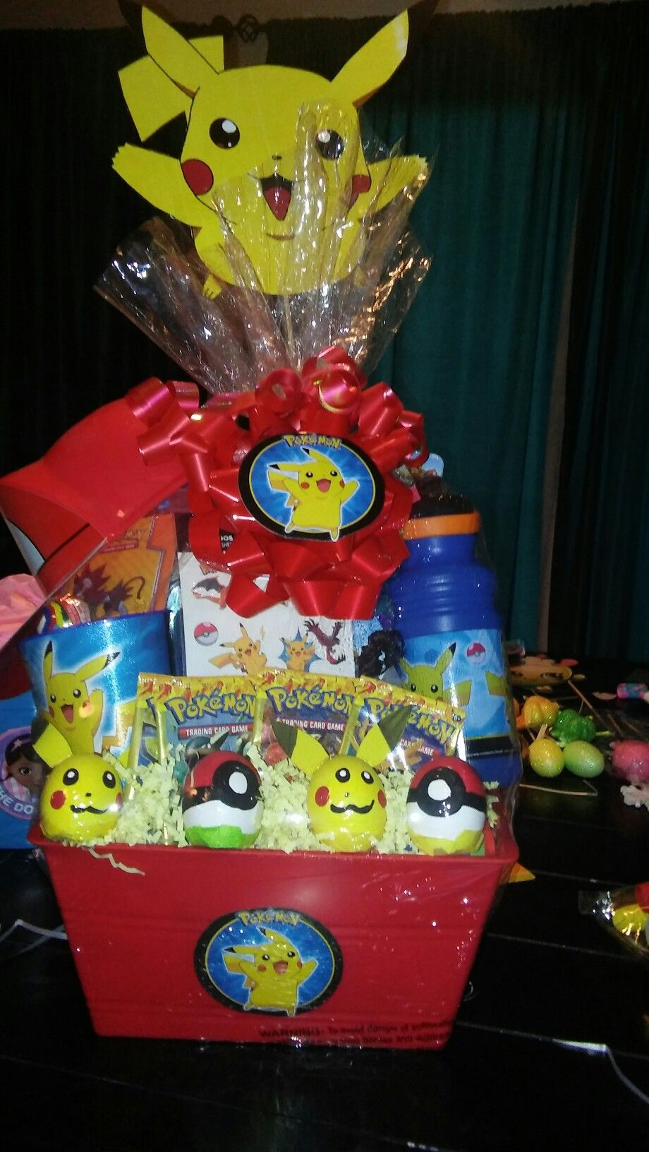 Pokemon easter basket gift baskets pinterest pokemon easter pokemon easter basket negle