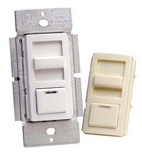 20% cut off Leviton R10-IPI06-1LM Decora Illumatech Slide Dimmer with Preset LED 600Watt White and Almond