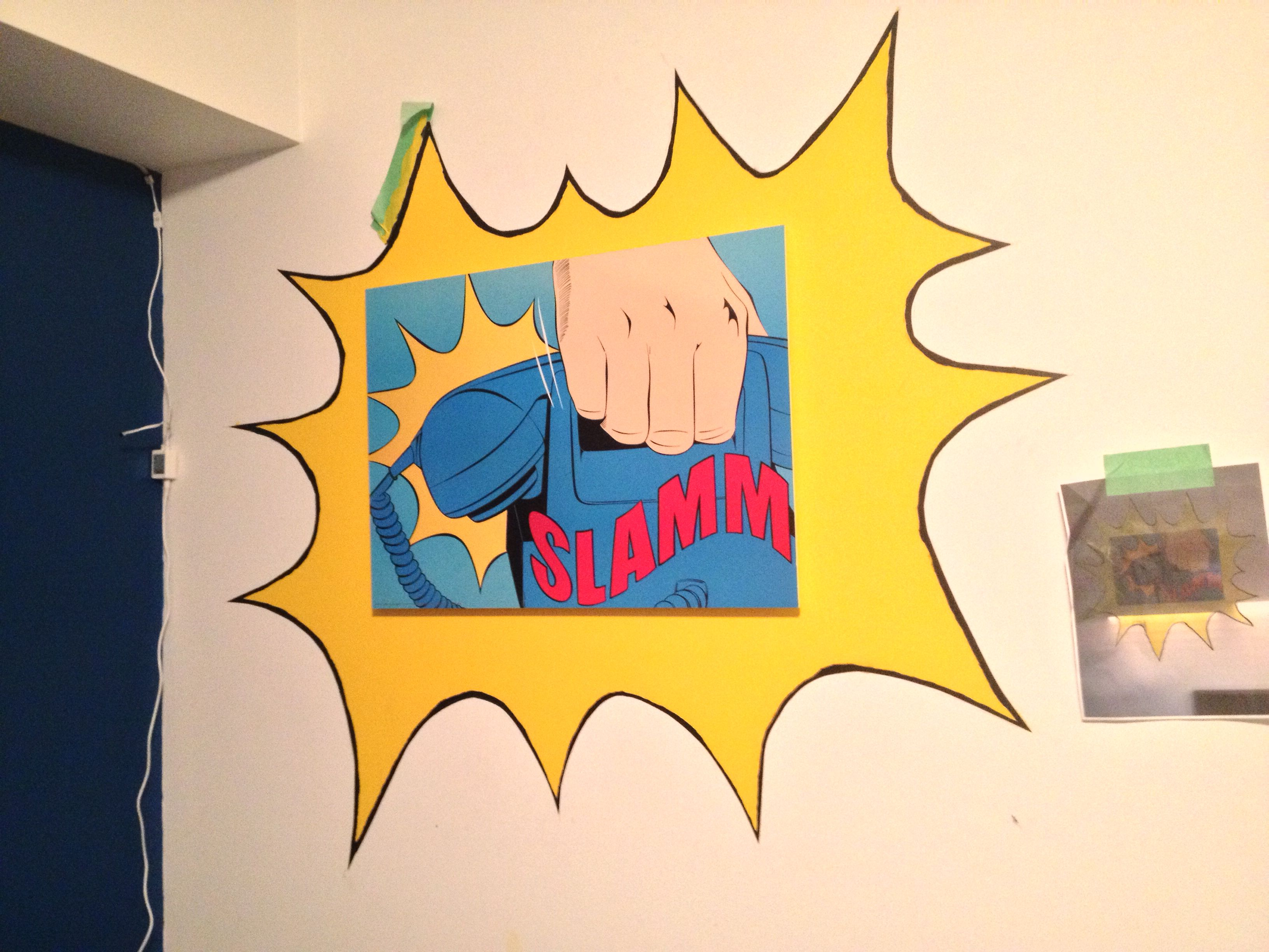 Painted a comic explosion on my brothers wall today :) | Future home ...