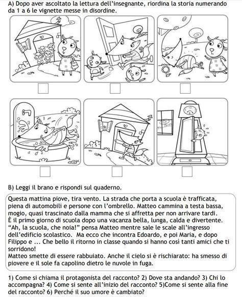 Risultati Immagini Per Schede Didattiche Storie Da Riordinare