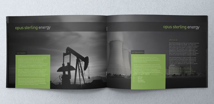 Page A Landscape Brochure Design For Executive Search Firm