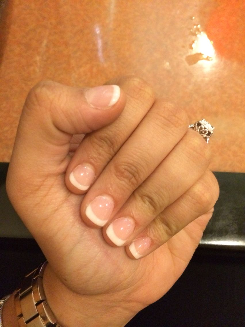 Dip powder French manicure | Nails nails nails | Pinterest ...