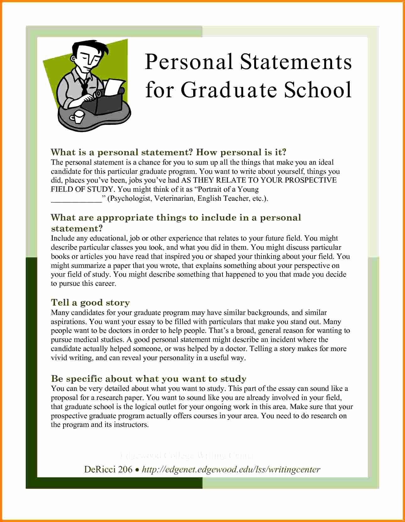 Graduate School Personal Statement Template Best Of 7 Example Psychology Gradua Essay Grad Admission Sample