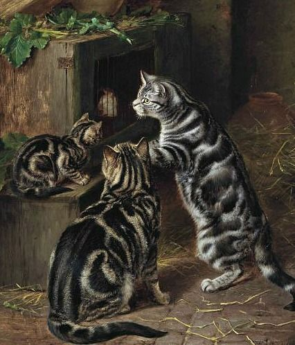 Horatio Henry Couldery ~ They remind me of my Ernie Cat.  Named by my children for Bert & Ernie.  Our vet said Ernie was the oldest living cat he had ever seen.  She led quite a life;  protected mousing in the garden by day & inside at night.  She purred so loudly, even so near to her passing. th