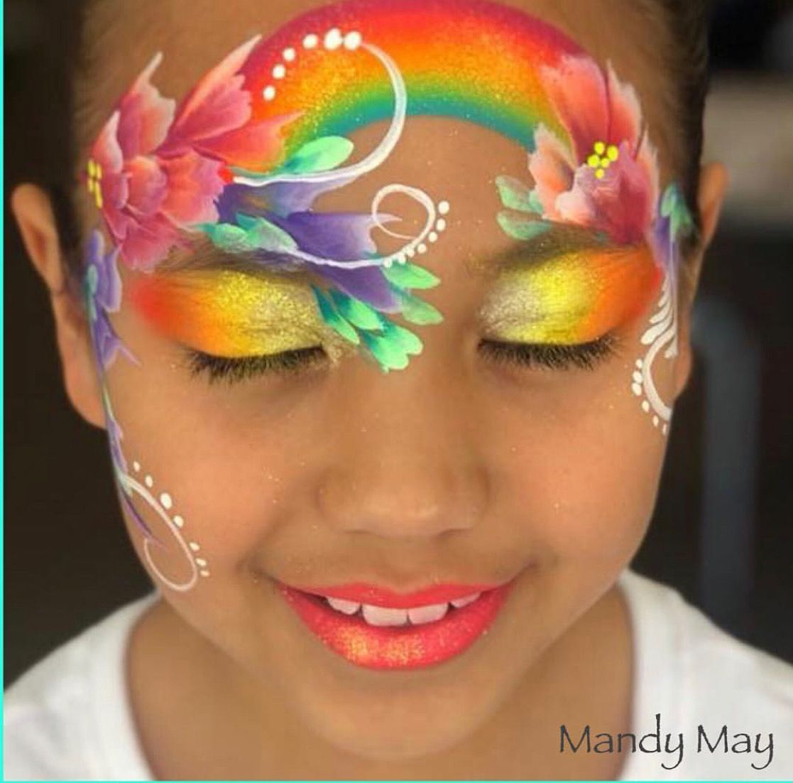 Flower face paint image by Roberta Boyd Face painting