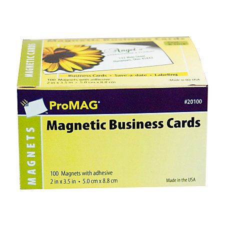 "ProMAG Magnetic Business Cards, 2"" x 3 1/2"", Pack Of 100"