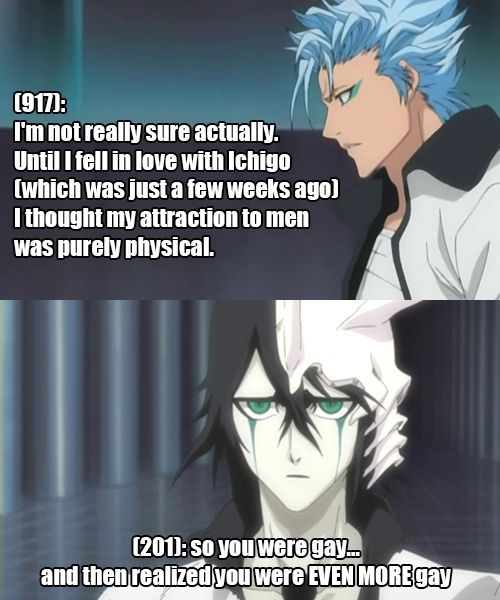Grimmichi Confessions Bleach Funny Bleach Anime Bleach Meme