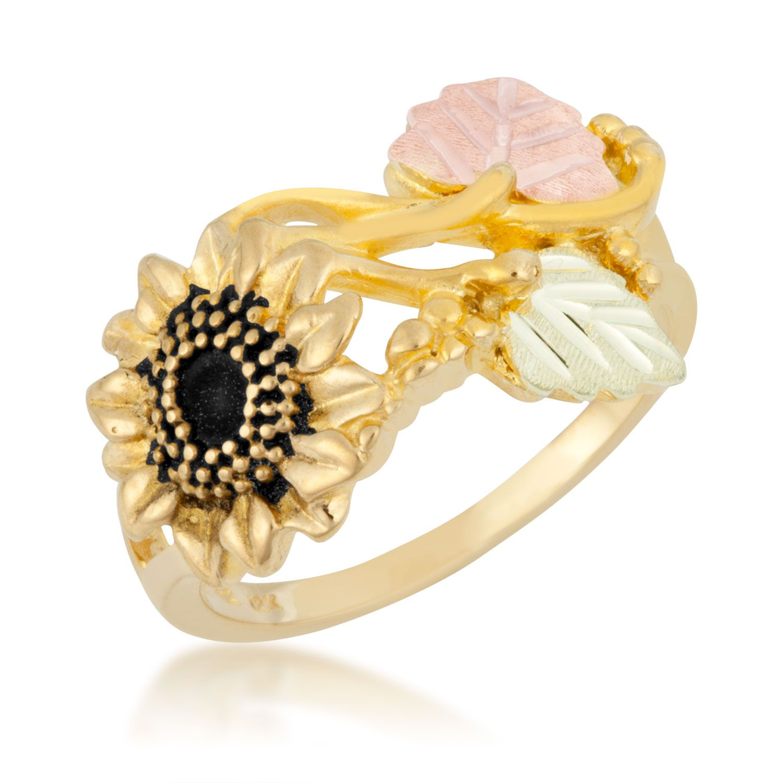 Black Hills Gold Ladies' Sunflower Ring in 10K Yellow Gold