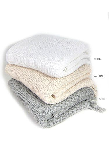 Amazon.com: Viverano Organic Cotton Tuck Knit Throw Blanket, 60 by 80 inches (Grey): Clothing