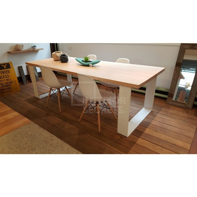 Grange Victorian Ash Timber Dining Table 2.4m - White Legs | Timber on white home ideas, white bench ideas, white kitchen storage, white bedroom ideas, living room table ideas, white shabby chic ideas, patio table ideas, white entertainment center ideas, square dining table ideas, white kitchen furniture, white living room ideas, dining room furniture ideas, white sofa ideas, white tv stand ideas, white furniture ideas, farmhouse dining table ideas, dining room table ideas, white headboard ideas, farm table ideas,