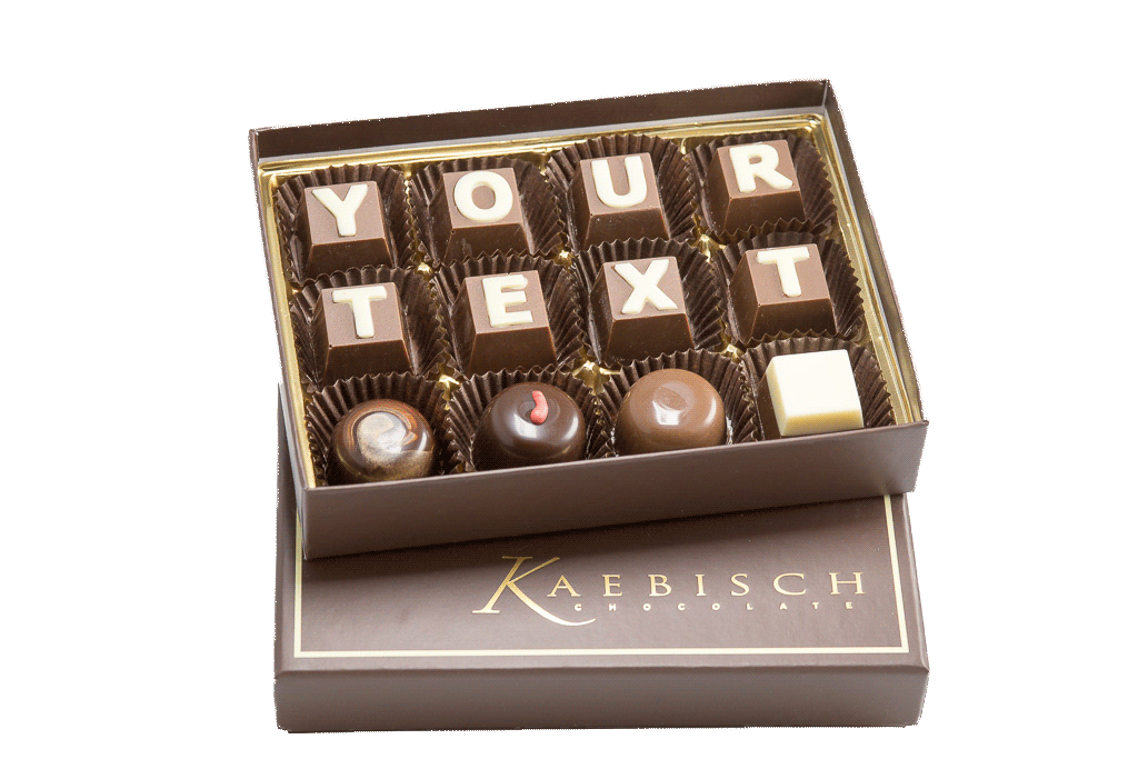 Your Custom Message Chocolate Box 12 Pieces A Decadent Selection