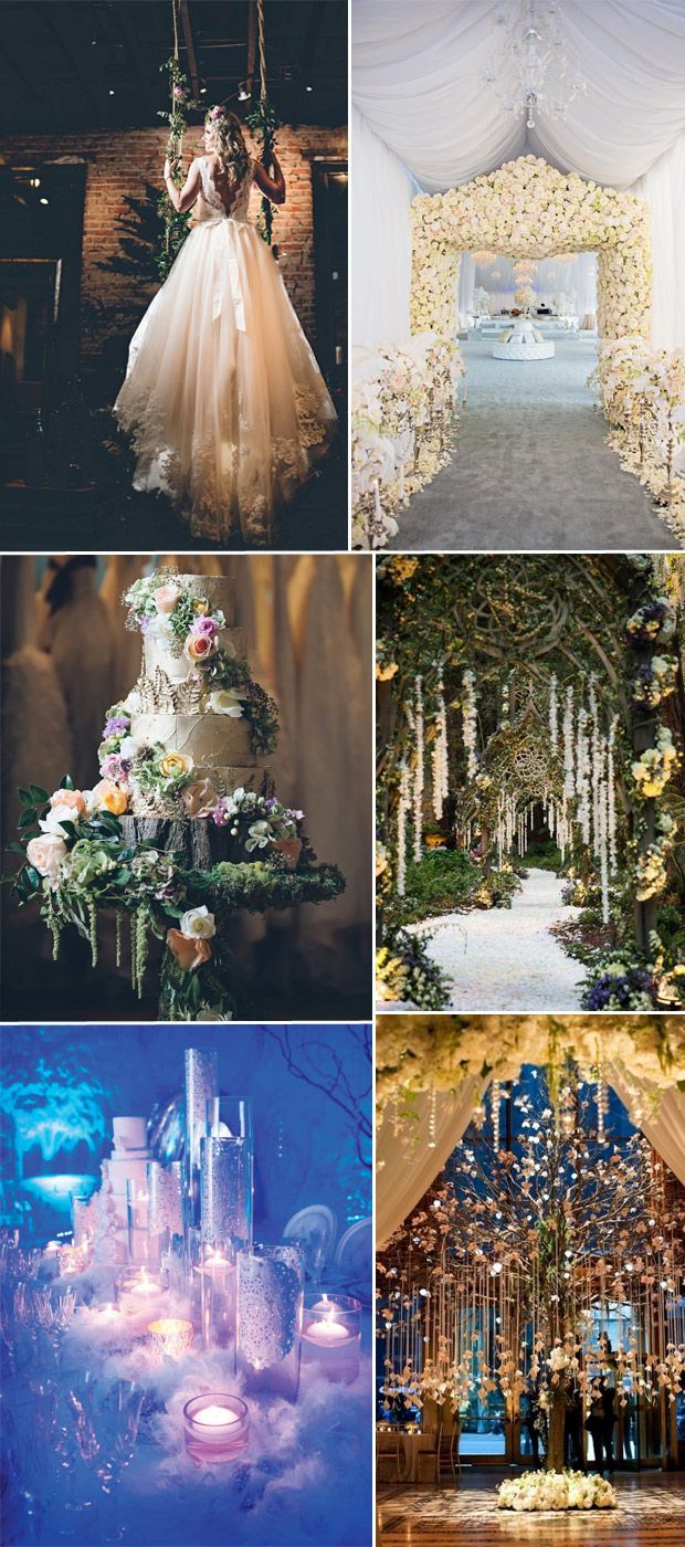 Dramatic Fairytale Wedding Trends And Themes 2016