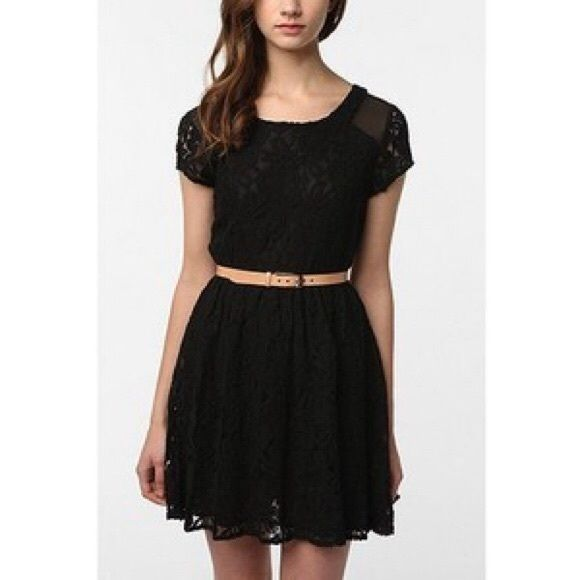 Urban outfitters black lace skater dress