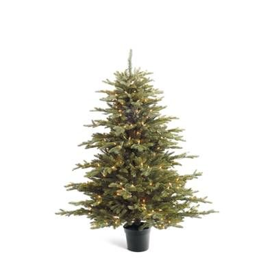 Grand Fraser Fir Tabletop Artificial Pre-lit Christmas Tree ...