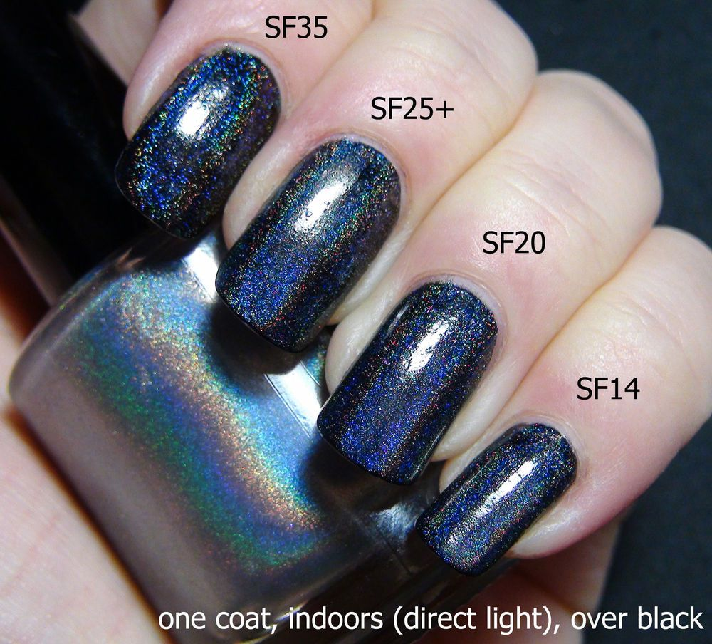 Spectraflair Holo Top Coat Nail Polish holographic 15ml & 5mls - 4 ...