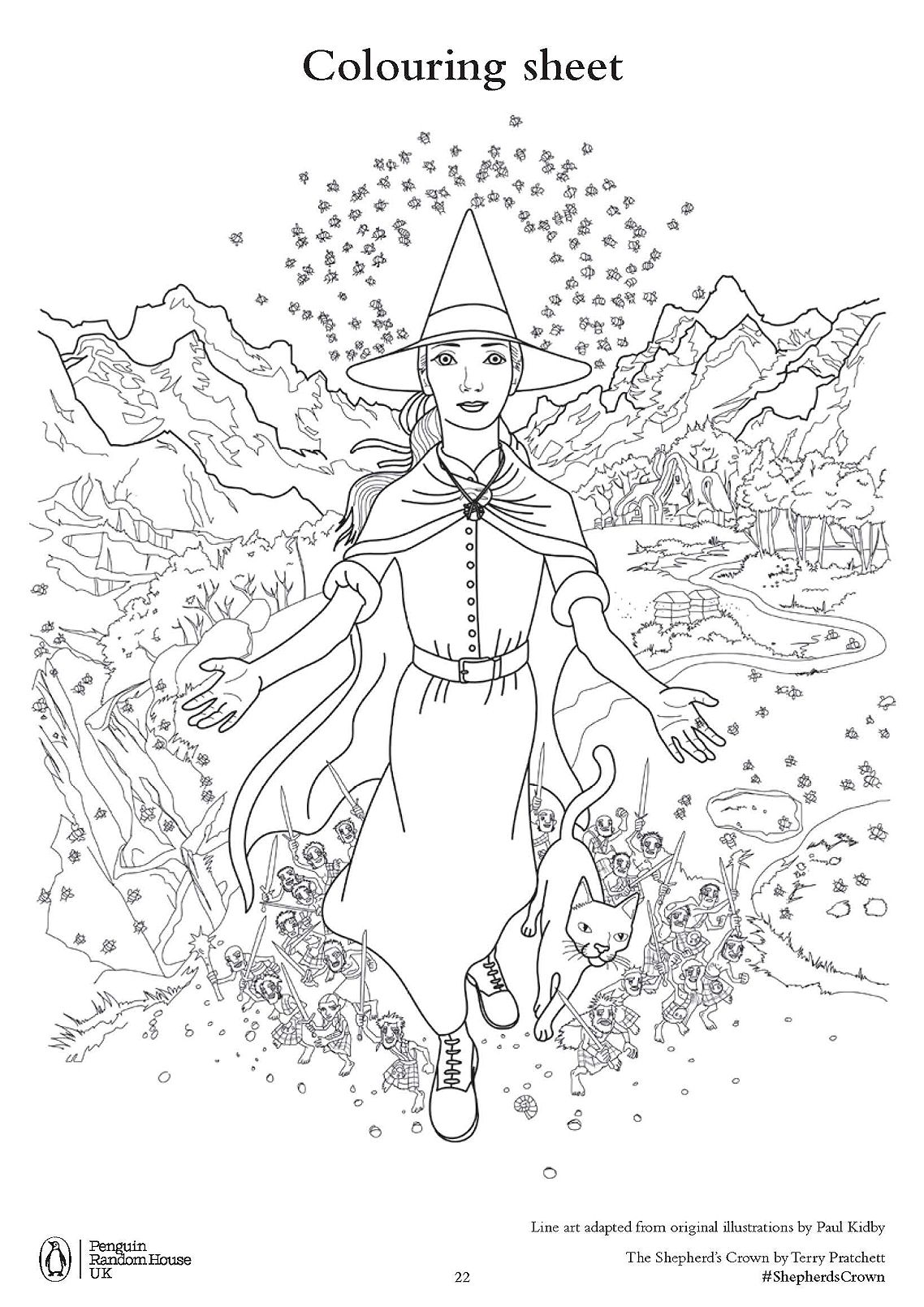 Terry Pratchett S The Shepherd S Crown Free Colouring Downloads Whsmith Blog