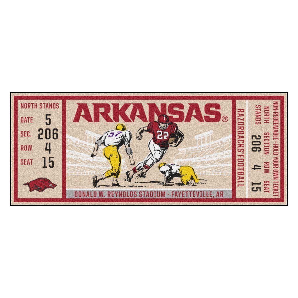 """Arkansas Ticket Runner 30""""x72"""" Game tickets, Texas tech"""