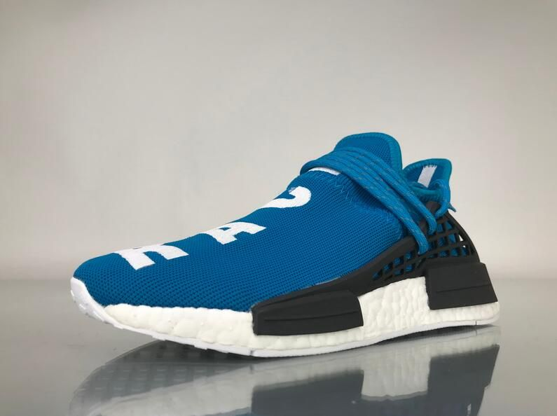 "Adidas NMD Human Race Pharrell Williams ""Blue"" Real Boost BB0618 for  Sale 02 Other details include multicolor adidas Trefoil branding on the heel  and a ... 5b5daf615"