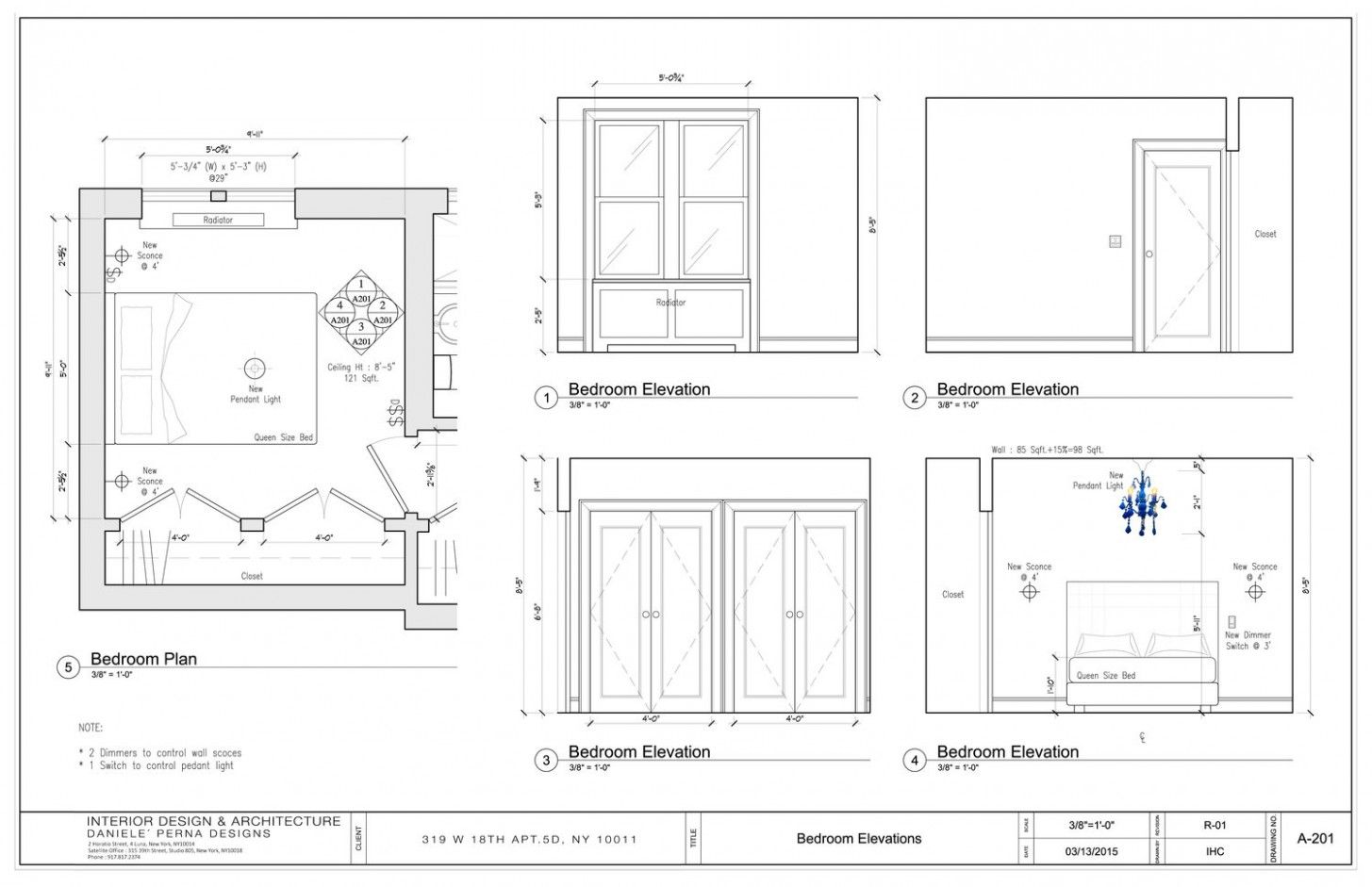 Bedroom Elevations Interior Design in 9  Interior design new
