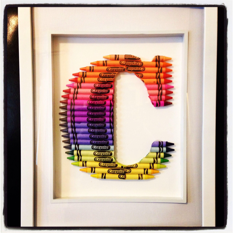 first birthday gift diy crayon monogram birthday gift ideas