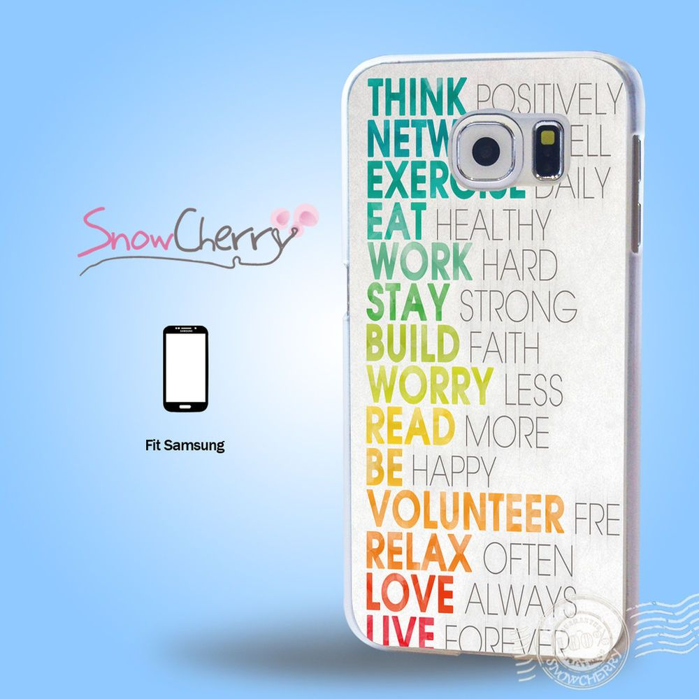 Samsung Quote Fascinating Samsung Galaxy S3 4 5 6 7 Edge Plus Note Print Case Cover Life Quote . Inspiration Design