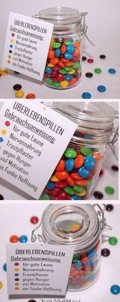 Atemberaubende Die perfekte Geschenkidee z. Hd. jeden Auslöser: DIY Einmachglas Survival Pill... #hjemmelavedegaver