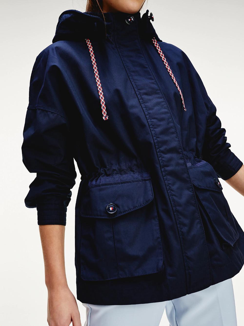 Hooded Utility Parka Blue Tommy Hilfiger Outerwear Jackets Women S Coats Jackets Jackets [ 1333 x 1000 Pixel ]