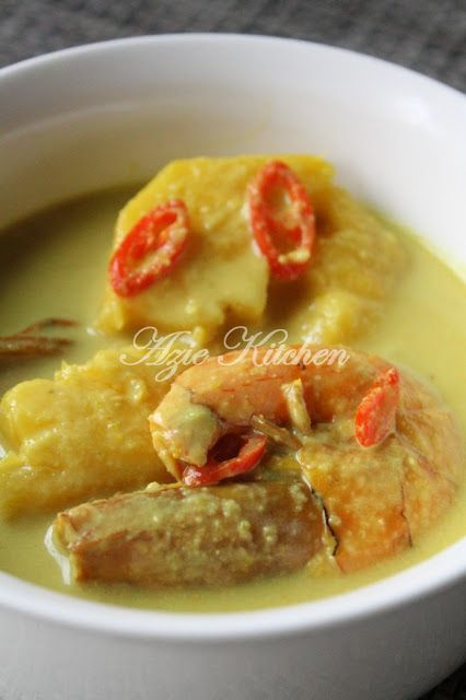 Azie Kitchen Masak Lemak Udang Dengan Nenas Malay Food Malaysian Food Seafood Dishes