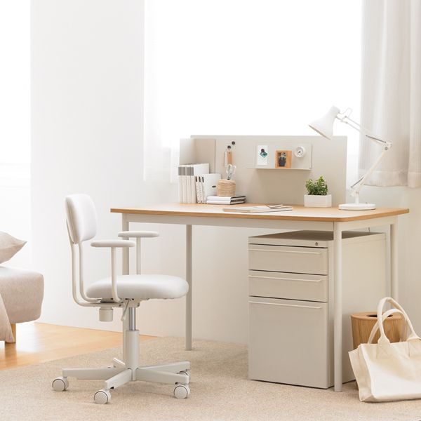 Home Office Furniture Systems: Muji Steel Desk System Cabinet