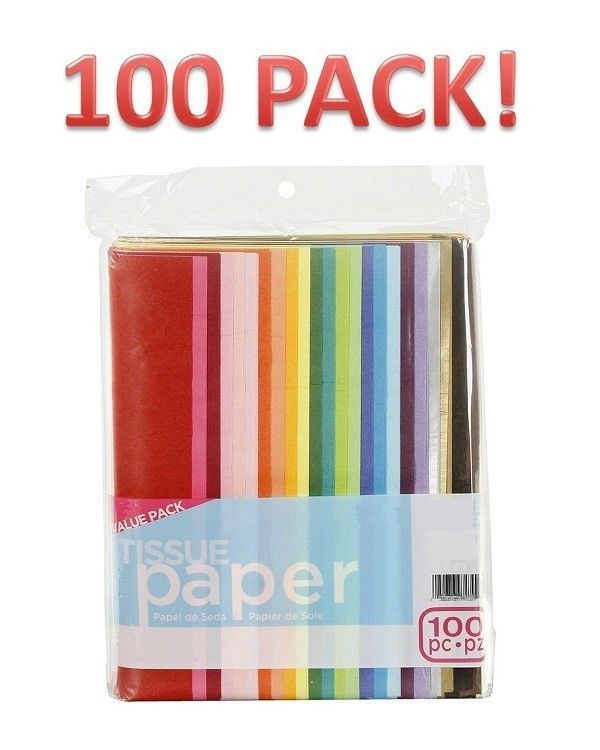 Tissue Paper School Colored Art Crafting Project 100 Sheets Gift Wrap Decoration