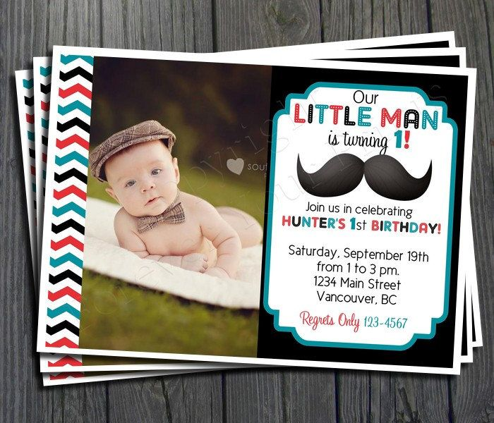 Little Man Mustache Birthday Invitation FREE by ForeverYourPrints