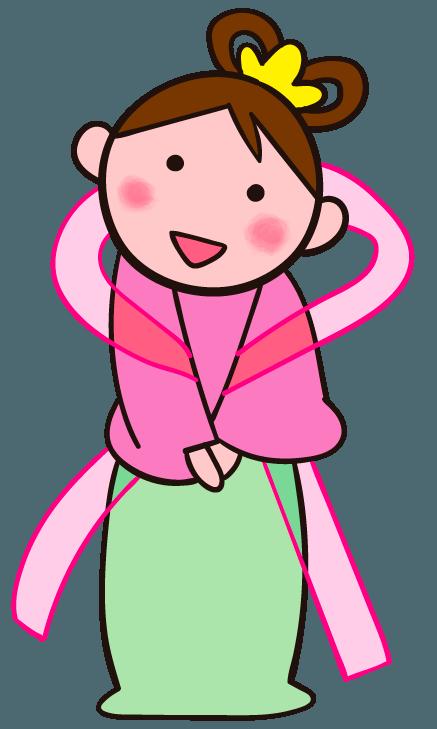 かわいい織姫 笑顔 水分補給 ご挨拶など生活のシーンでの織姫 イラスト