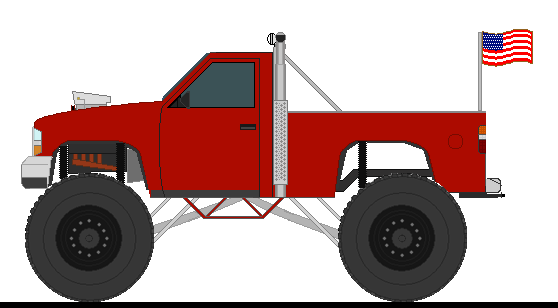 Lifted Chevy Truck Drawings A Pickup Monster