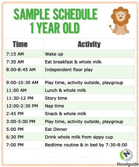 Sample Schedule For One Year Old  Parenting Is Difficult But A