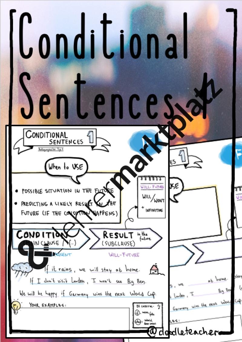 Conditional Sentences I - Sketchnote – Englisch | Pinterest ...