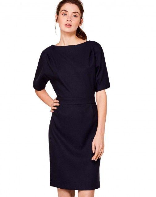 8c5e86eac255 Kaufe Kleid mit kurzen Ärmeln Dunkelblau für KLEIDER im offiziellen  Onlineshop von United Colors of Benetton.