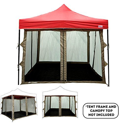 Eurmax Basic 10 X 10 Pop Up Canopy Portable Event Outdoor Canopy Wedding Party Tent Quick Shelter Wheeled Carry Bag Black Screen Tent Pvc Flooring Tent Room
