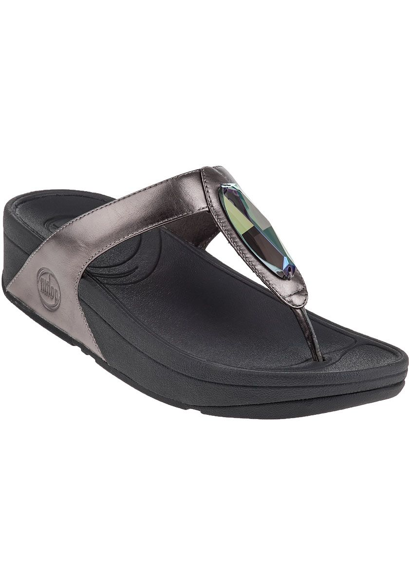 FitFlop - Chada Flip Flop Pewter Leather
